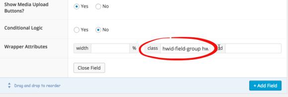 ACF WYSIWYG Class Input